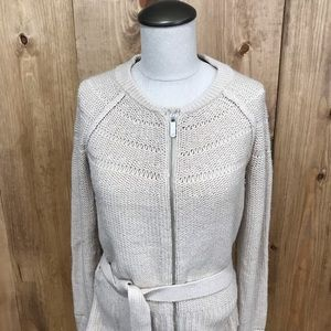 A/X belted sweater cream or tan color medium